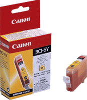 BCI6Y : Cartouche d'encre Yellow (jaune) CANON (4708A002AA) (300 pages) pour CANON BJI 9900