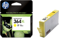 CB325EE : Cartouche d'encre Yellow (jaune) Vivera HP364XL (n°364XL) (750 pages) pour HP Deskjet Ink Advantage serie 5520